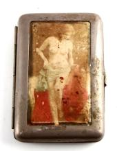 ANTIQUE NUDE EMBOSSED CIGARETTE CASE