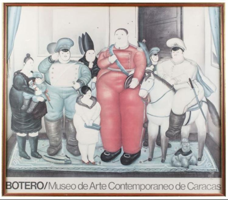 POSTER OF PAINTING BY BOTERO CARACAS