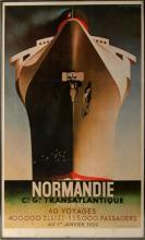 CASSANDRE NORMANDIE TRANSATLANTIQUE POSTER