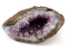 NATURAL AMETHYST GEODE GEM STONE 7 BY 5 BY 3 INCH
