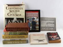 LOT OF MILITARY & HISTORY BOOKS CIVIL WAR ANTIETAM