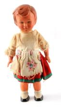 ANTIQUE 1920S GERMAN WIND UP TOY DOLL 6 INCH
