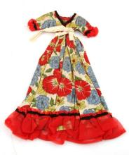 EARLY SETTLERS DOLL DRESS MID TO LATE 19TH C 1800S