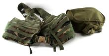 MILITARY ZIPPERED FLC VEST & RUBBER GAS MASK W BAG