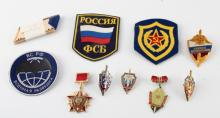 LOT 10 SOVIET RUSSIAN KGB BATCHES PATCHES TABS ETC
