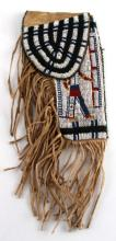 NORTHERN PLAINS SIOUX CHIEF BEADED GUN HOLSTER