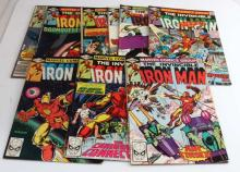 LOT OF 10 - INVINCIBLE IRON MAN COMIC BOOKS MARVEL