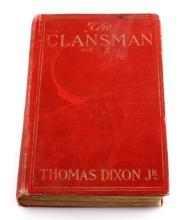 THE CLANSMAN BY THOMAS DIXON JR HARDBACK BOOK