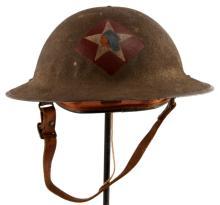 WWI USMC 6TH REGIMENT MACHINE GUN BATTALION HELMET