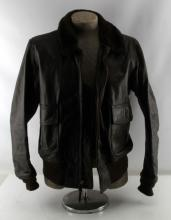 US NAVY ISSUE G1 LEATHER FLYERS JACKET NAMED BURKE