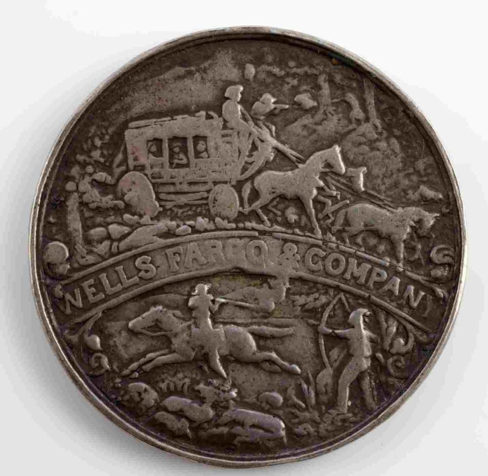 1902 WELLS FARGO SILVER TOKEN SO CALLED DOLLAR