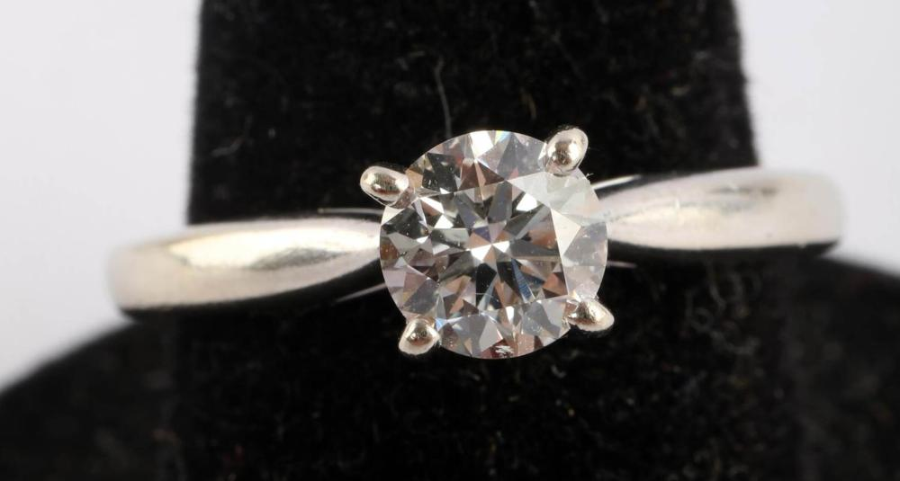 14KT GOLD 0.63CT DIAMOND SOLITAIRE ENGAGEMENT RING