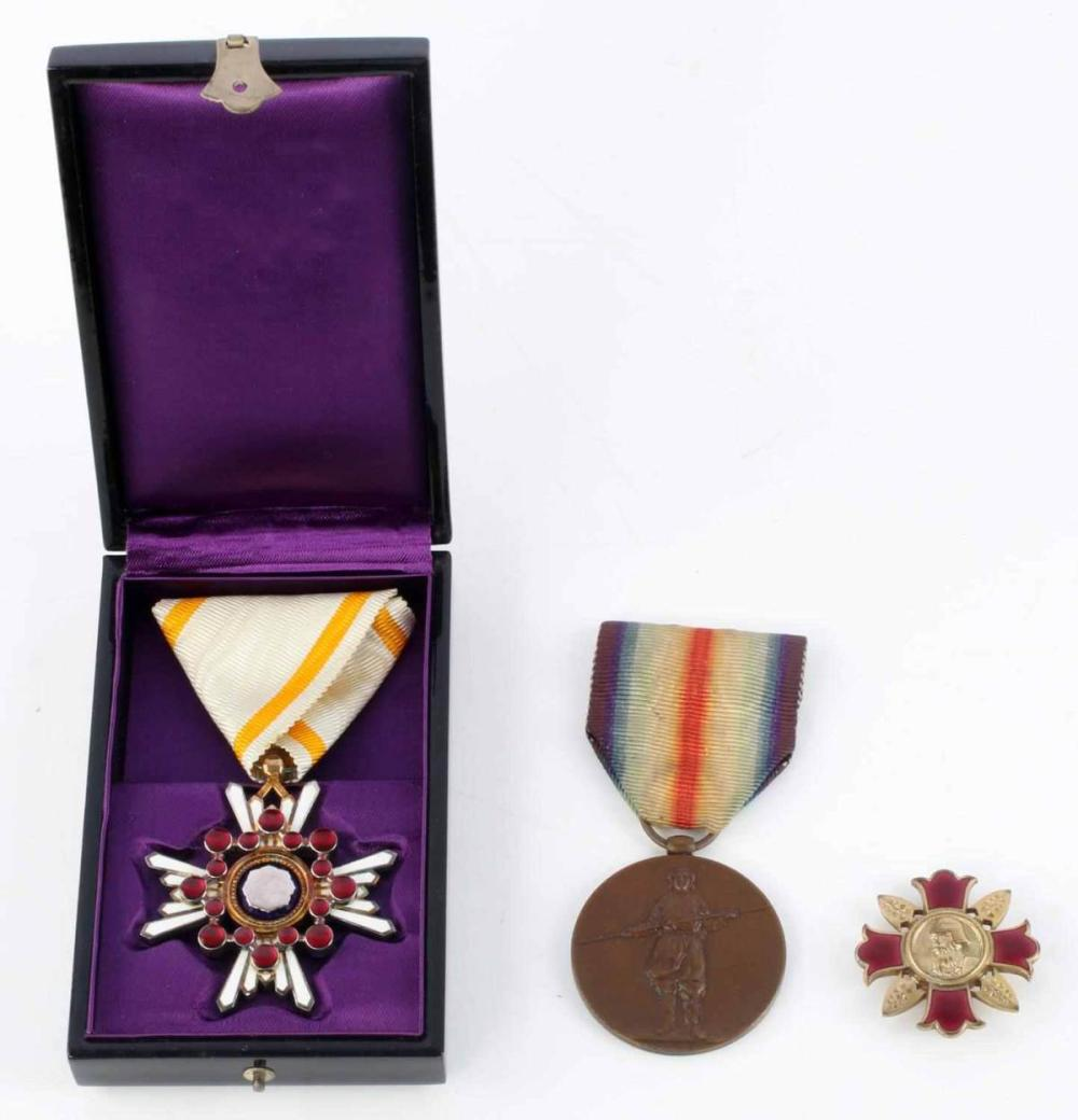 3 WWII JAPANESE MEDALS SACRED TREASURE 5TH CLASS
