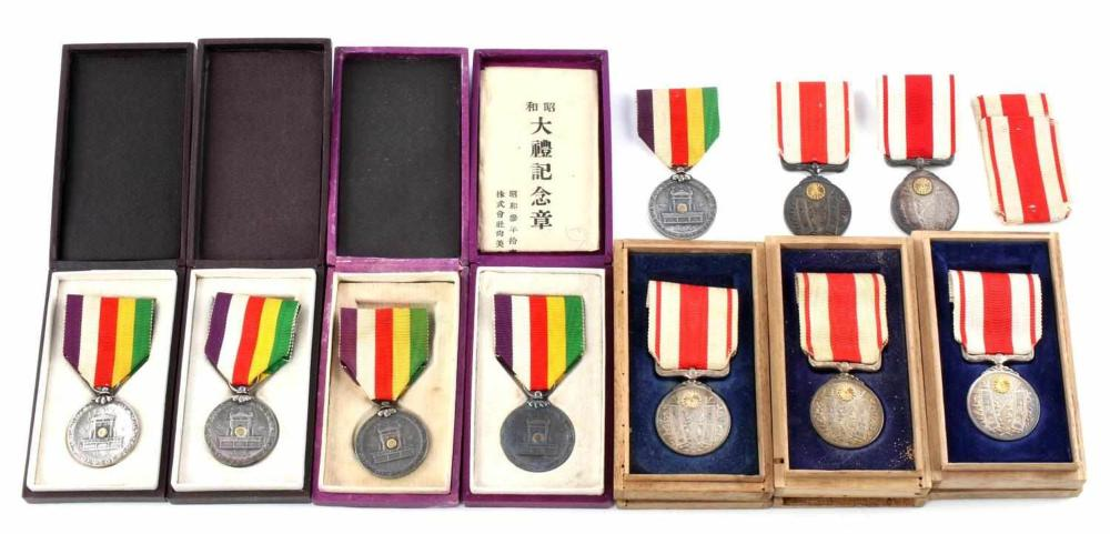 11 PRE WWII IMPERIAL JAPANESE TAISHO SHOWA MEDALS