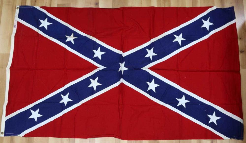 VINTAGE MID CENTURY ANNIN CONFEDERATE BATTLE FLAG