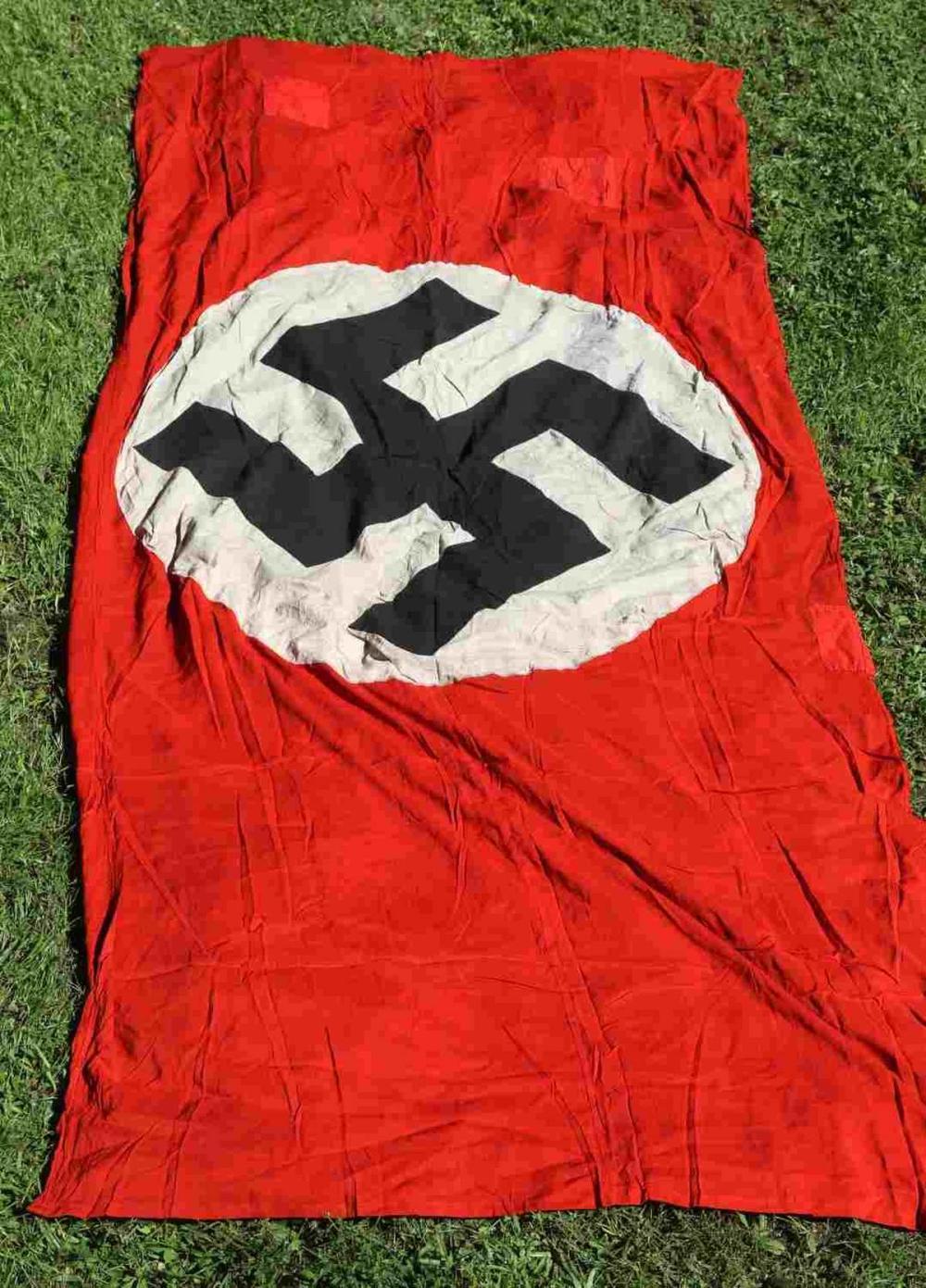 WWII GERMAN THIRD REICH MASSIVE BANNER FLAG