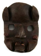 ANTIQUE AFRICAN ANIMIST CARVED WOODEN TRIBAL MASK