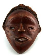 TAKUUAT ATOLL WOODEN TRIBAL MASK JAVA TRIBE
