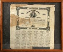 CIVIL WAR CONFEDERATE STATES $1000 LOAN BOND SHEET