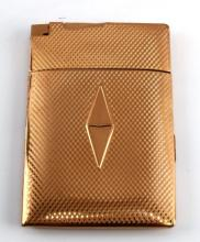 ELGIN GOLD PLATED CIGARETTE CASE WITH LIGHTER