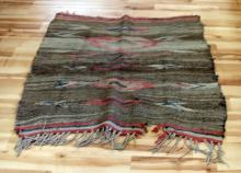 ANTIQUE NAVAJO INDIAN WOOL HORSE SADDLE BLANKET