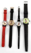 4 VINTAGE DISNEY MICKEY MOUSE WRIST WATCH LOT