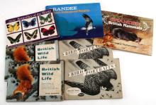 BRITISH WILDLIFE CIGARETTE CARD LOT OF SEVEN BOOKS