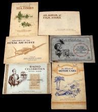 COMPLETE ENGLISH TOBACCO CARD ALBUM BOOK LOT OF 6