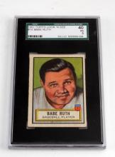 1952 BABE RUTH TOPPS #15 LOOK N SEE BASEBALL CARD