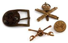 WWI US AND BRITISH PIN AND BUCKLE LOT OF 4