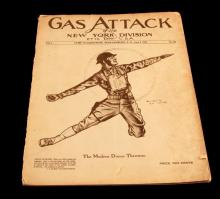 WWI GAS ATTACK OF THE NEW YORK DIVISION MAGAZINE