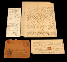 WWI LETTERS HOME & CIVIL WAR AID TO VOLUNTEERS