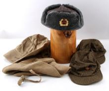 LOT OF 5 COLD WAR ERA SOVIET RUSSIAN MILITARY CAPS