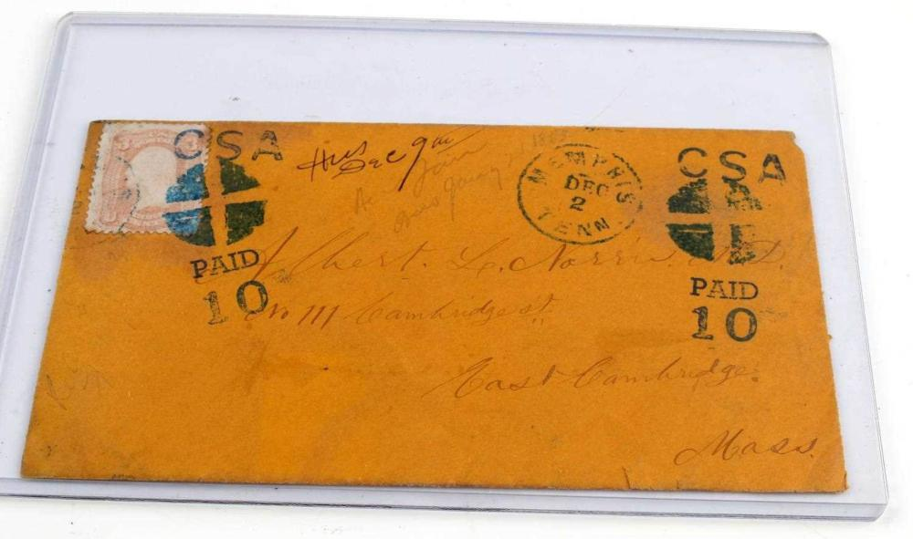 1863 CONFEDERATE STATES OF AMERICA LETTER ENVELOPE
