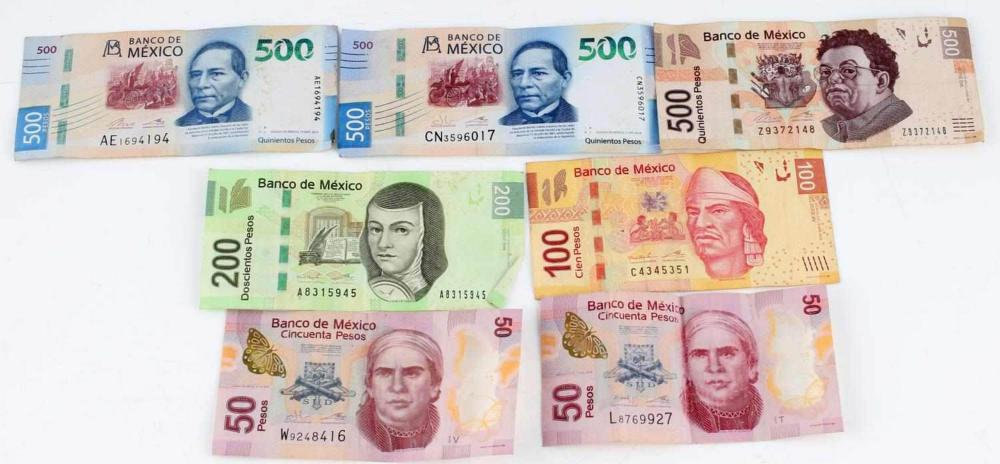 LOT OF 1900 MODERN CURRENT MEXICAN PESOS