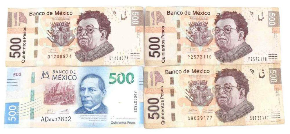 LOT OF 2000 MODERN PESOS FROM 2010 2013 2017