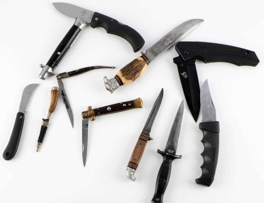 VARIETY LOT OF 10 POCKET KNIFE COLT GERMAN JAPAN