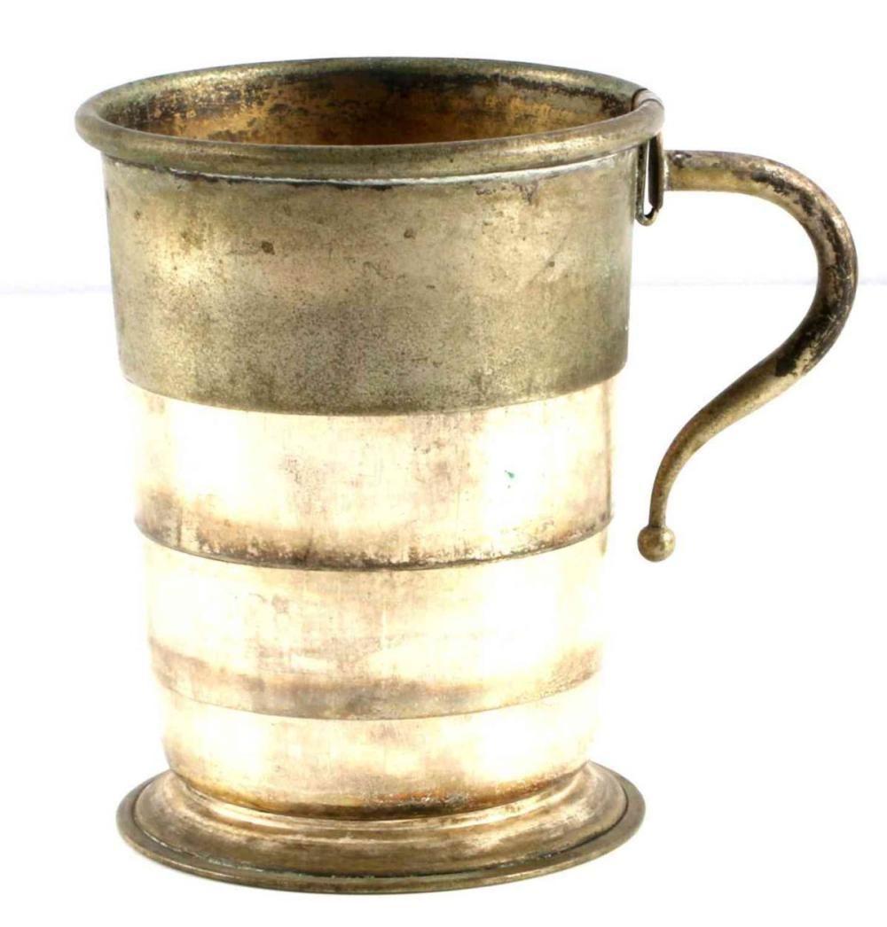 CIVIL WAR ERA COLLAPSIBLE DRINKING CUP W HANDLE