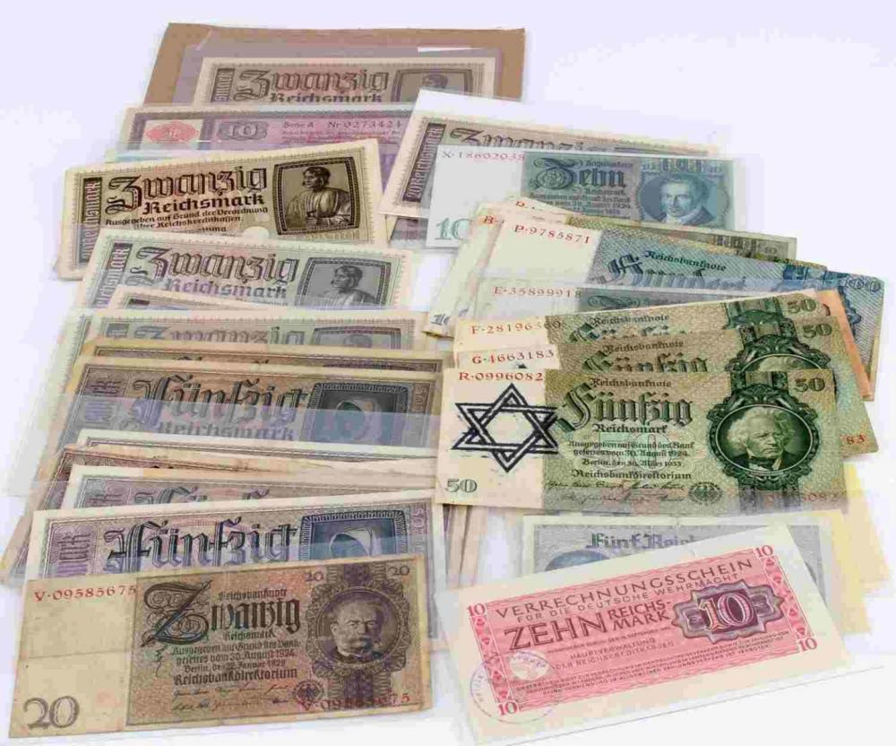 WWII THIRD REICH GERMAN CURRENCY BANK NOTES