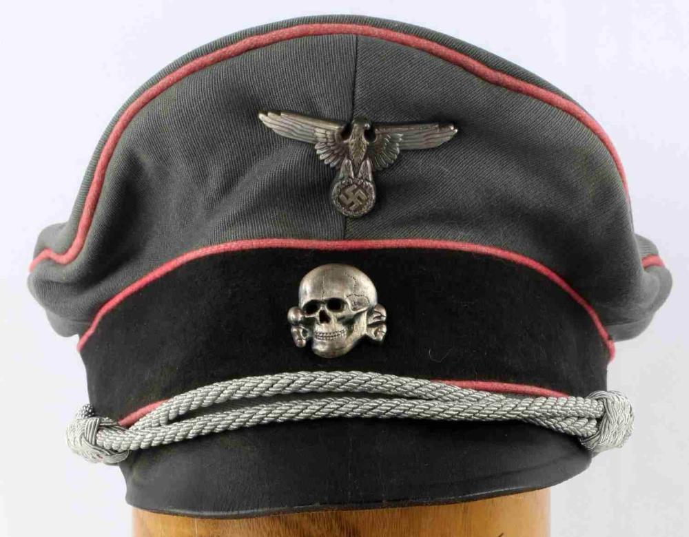 WWII GERMAN THIRD REICH SS PANZER TOTENKOPF VISOR