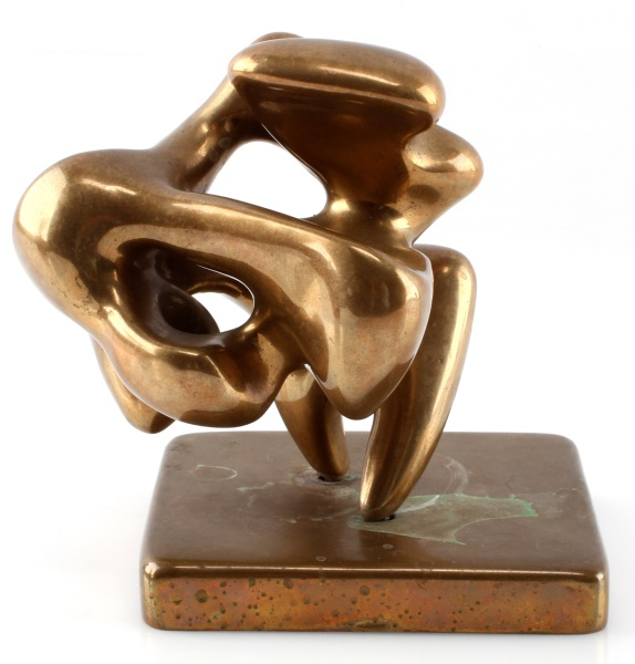 ELI KARPEL (AMERICAN, 1916-1988) ABSTRACT BRONZE