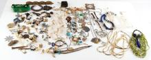 4.5 POUNDS OF UNSEARCHED COSTUME JEWELRY