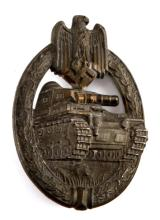 WWII GERMAN PANZER ASSAULT BADGE BY ADOLF SCHOLZE