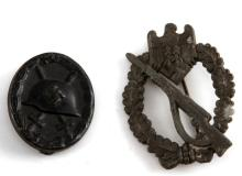 PAIR OF WWII GERMAN NSDAP WOUND & INFANTRY BADGES