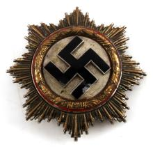 WWII THIRD REICH GERMAN CROSS MEDAL IN GOLD