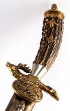 IMPERIAL GERMAN HUNTSMAN'S STAG-HANDLED KNIFE
