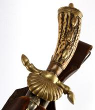 GERMAN IMPERIAL STAG HORN HANDLE HUNTSMAN'S KNIFE