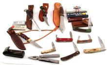 16 FIXED OR FOLDING KNIFE LOT CASE MUELA  AL MAR
