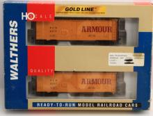 NIB WALTHERS GOLD ARMOUR 40' MEAT REEFER 2 PACK