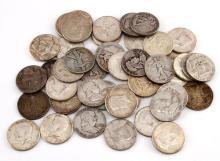 $22.50 FACE VALUE 90%  SILVER HALF DOLLAR COIN LOT